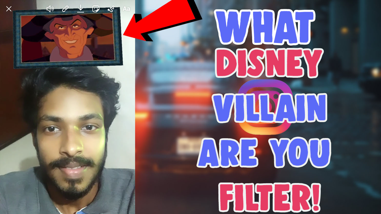 what disney villain are you instagram filter