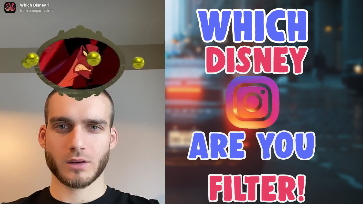 how to get which disney character are you instagram filter