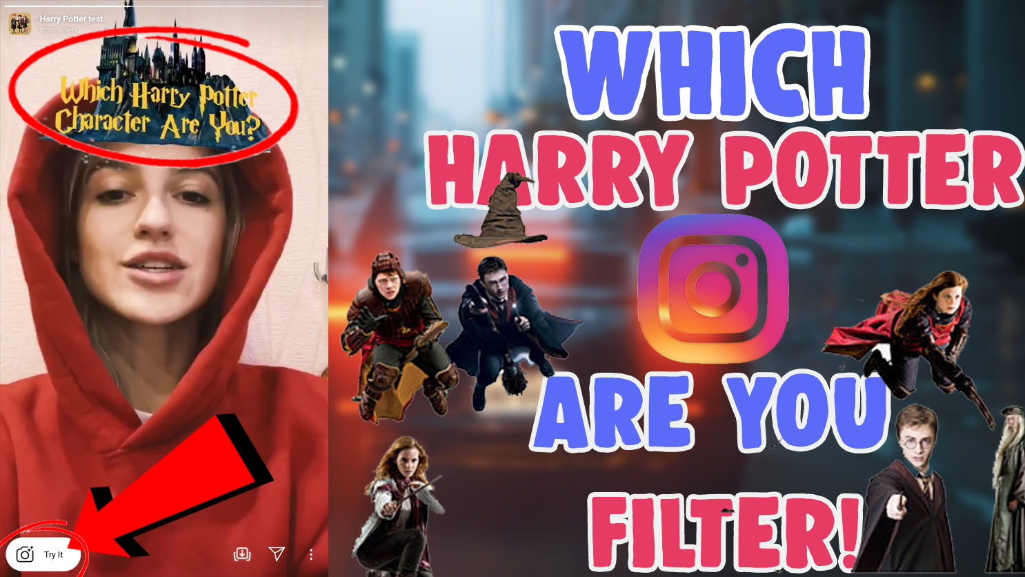 which Harry Potter Instagram filter