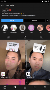 what office employee instagram filter
