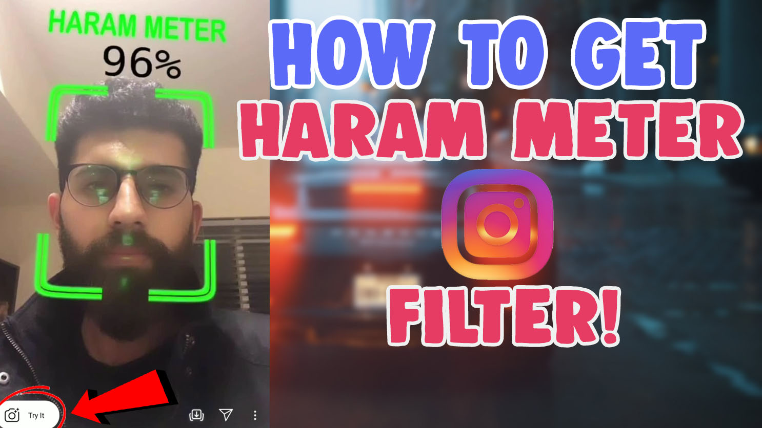 how to get haram meter filter instagram and tiktok