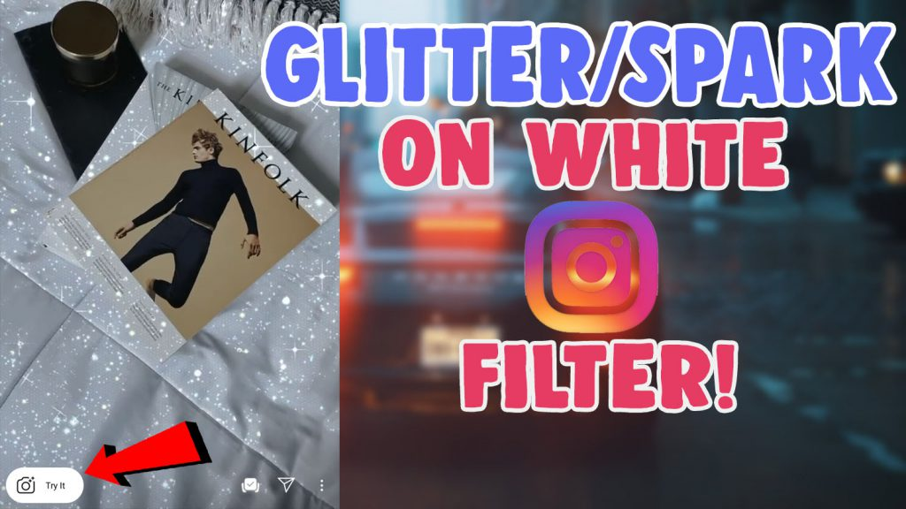 glitter on white sparkle filter instagram