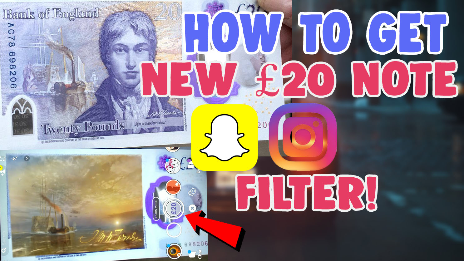 £20 note snapchat filter