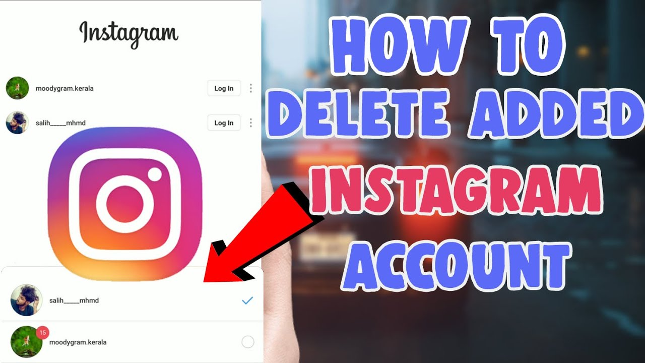 delete an added instagram account