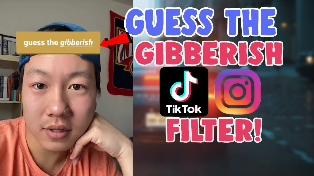 guess the gibberish incoherent filter tiktok instagram