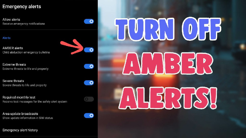 turn off amber alerts on android and iphone