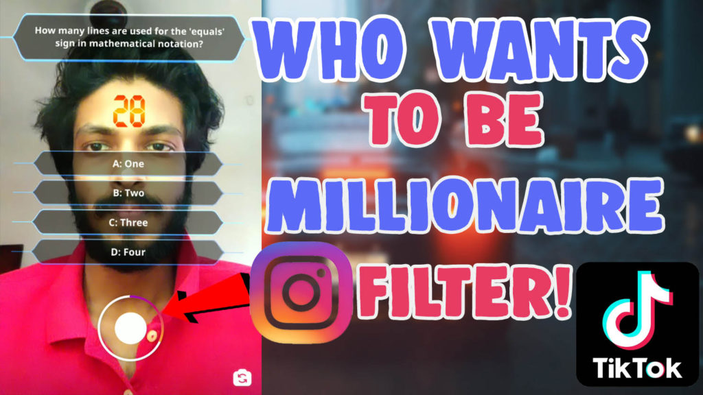 who wants to be a millionaire instagram filter tiktok