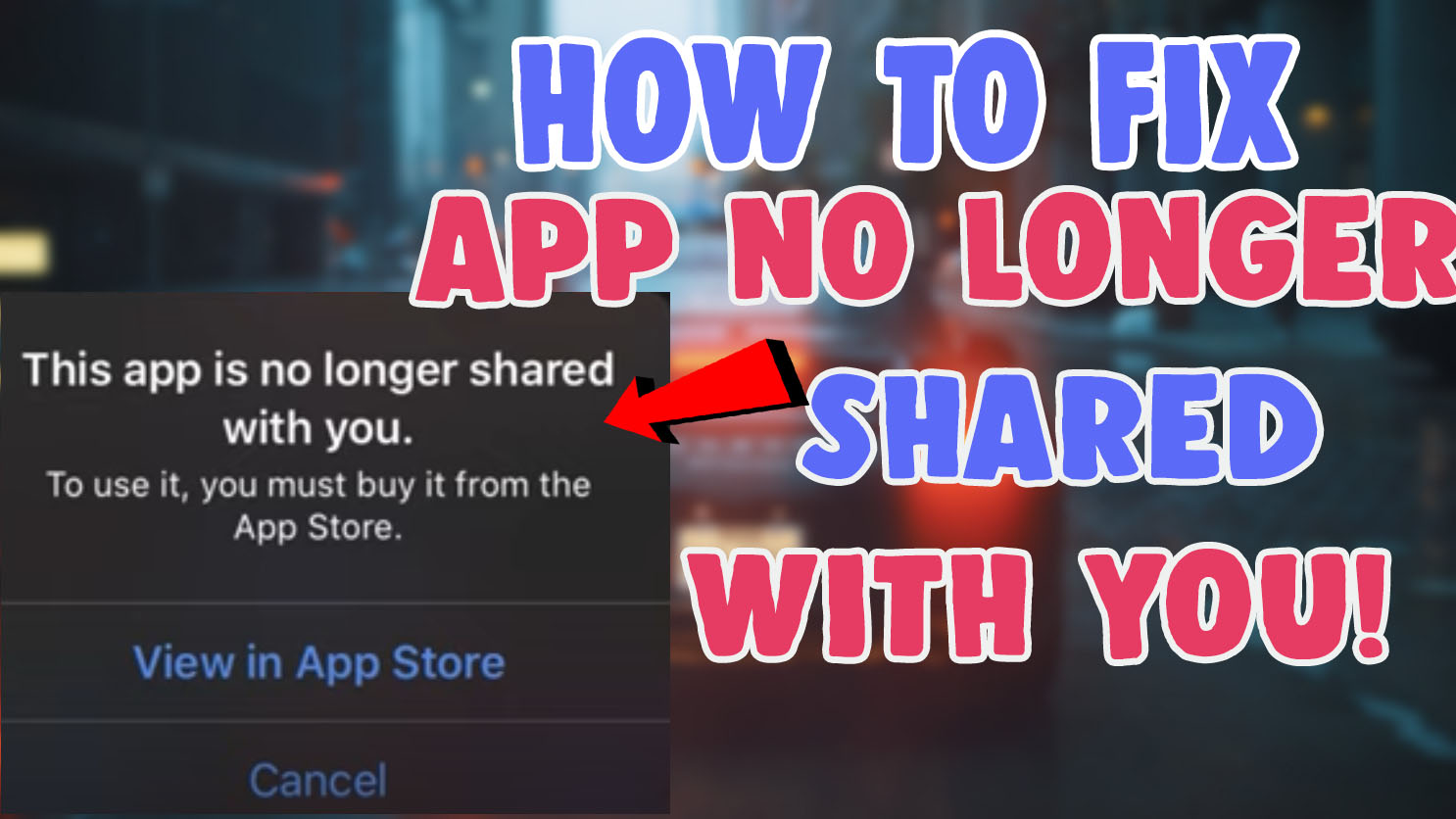 youtube this app is no longer shared with you