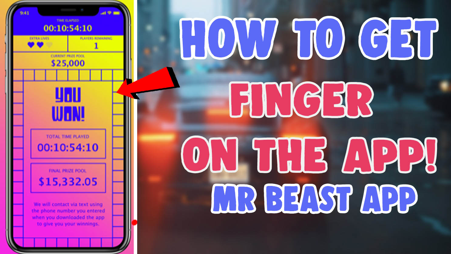 download mr beast finger on the app ios android