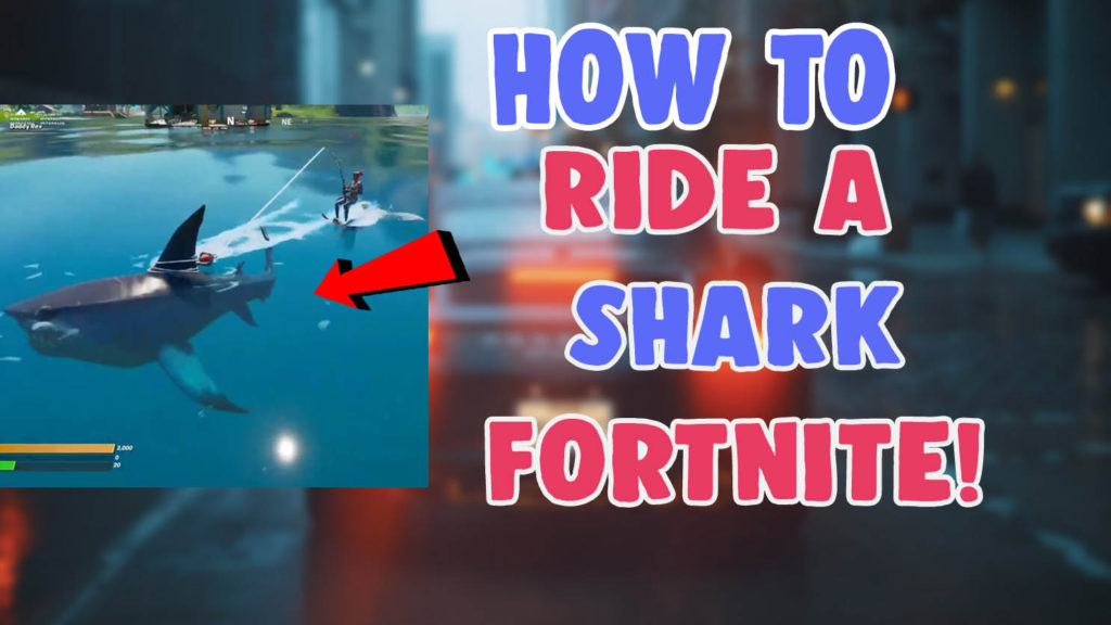 how to get and ride a shark in fortnite