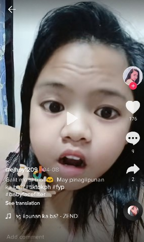 baby face filter tiktok child effect