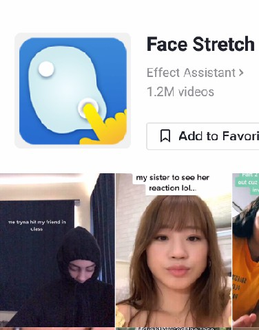 face stretch filter tiktok icon