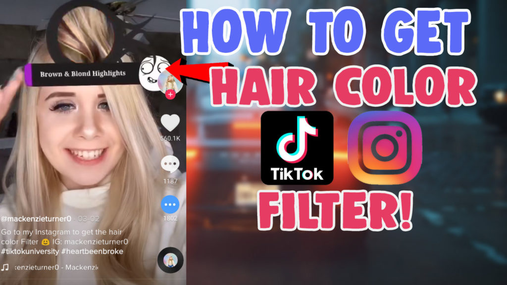 hair color filter instagram tiktok