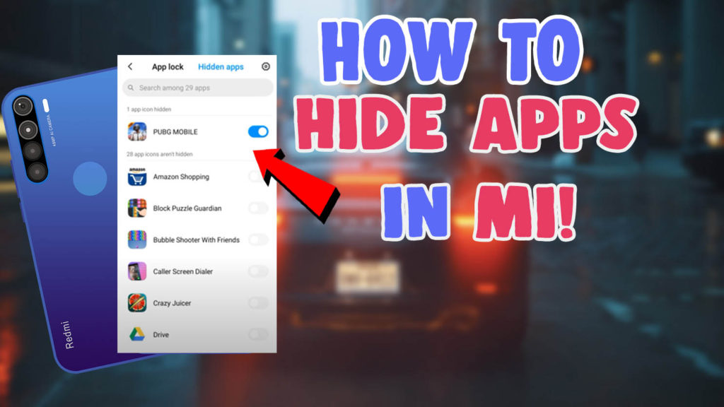 how to hide apps in miui redmi mobile phones 2020