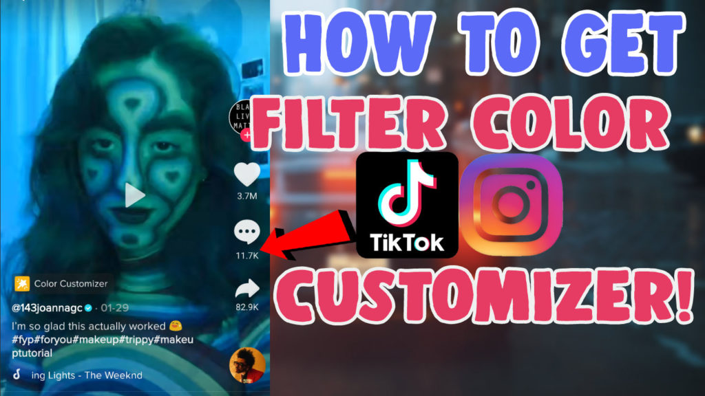 how to use the color customizer filter tiktok icon