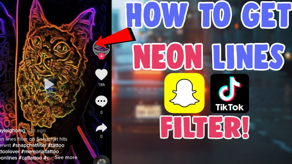 neon lines filter tiktok tattoo effect snapchat