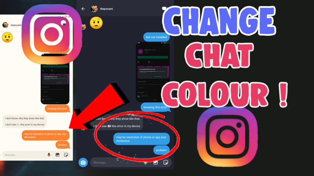 change chat bubble colour instagram ios android