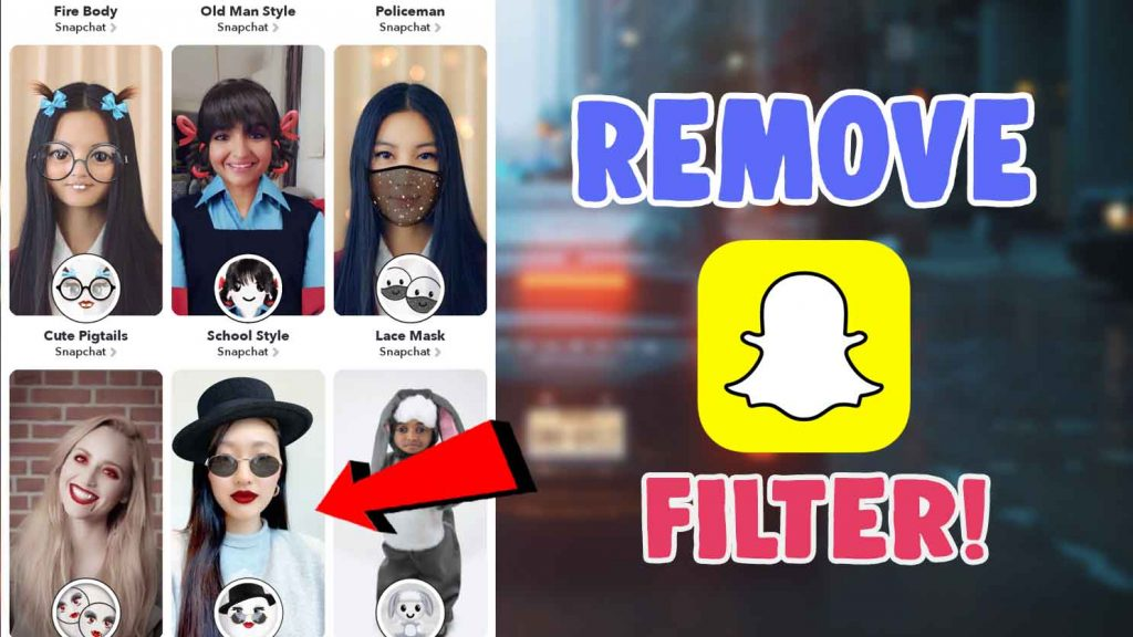 snapchat filter remover photo