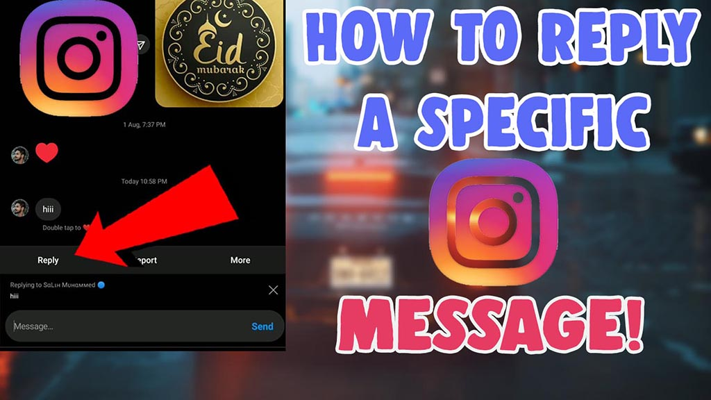 how to reply a specific message on instagram