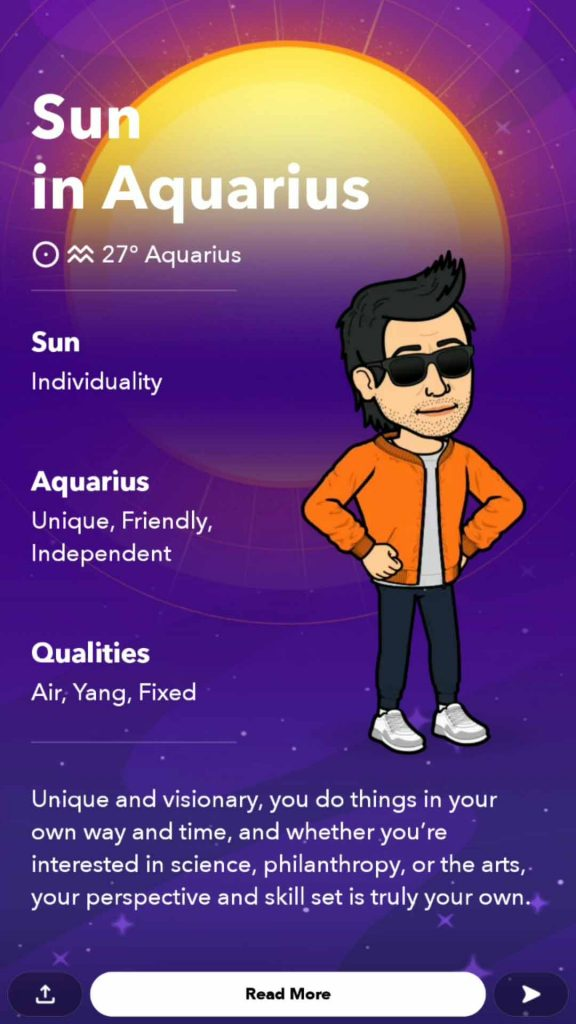 astrological profile snapchat