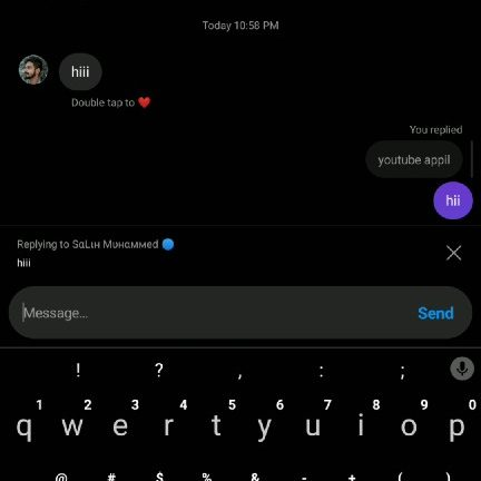 how to reply a specific instagram message iphone android