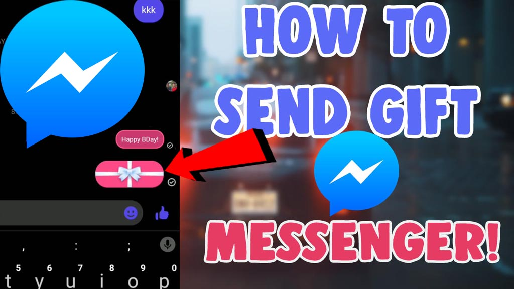 how to send gift message on facebook messenger iphone and android
