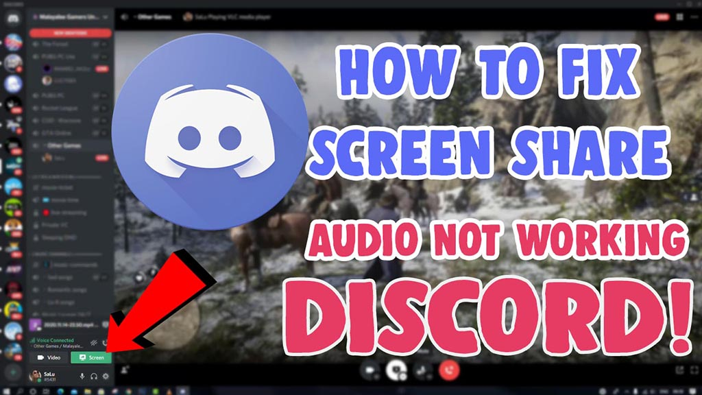 how to fix discord screen share audio not working