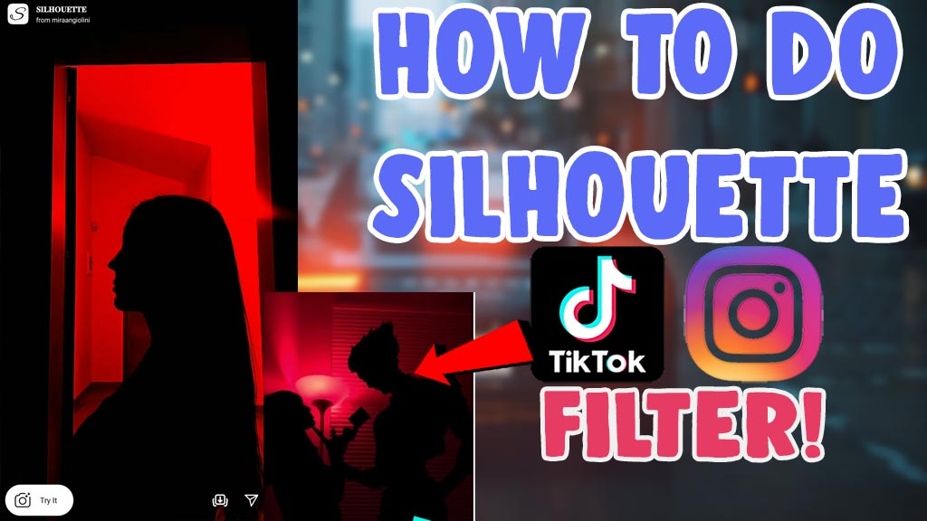how to do silhouette challenge tutorial tikotk