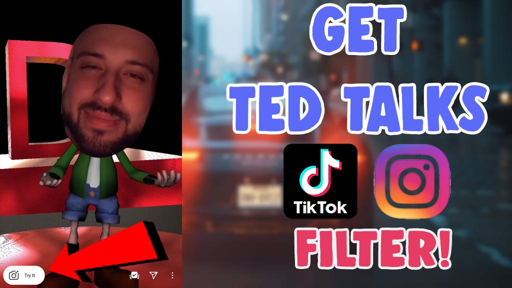 how to get ted talk filter on tiktok and instagram