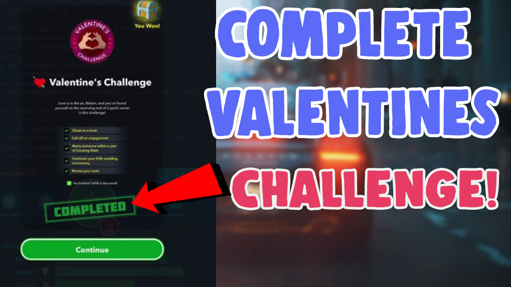 how to complete valentines challenge in bitlife