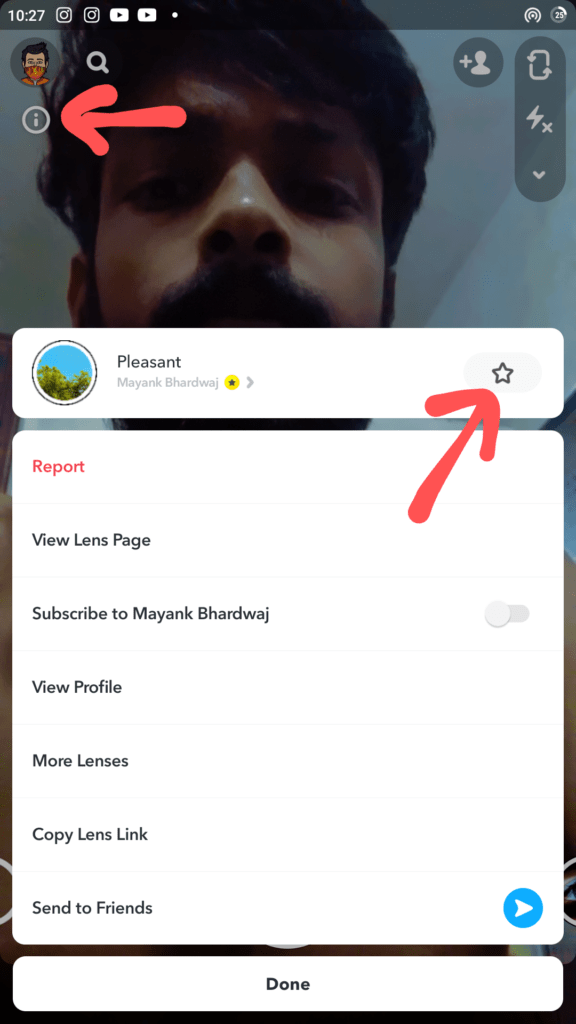how to save Snapchat filter lenses forever