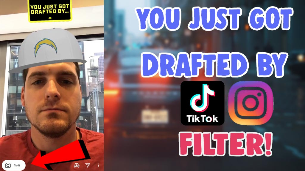 get you just got drafted by filter on tiktok