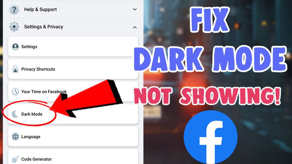 facebook dark mode not showing android Iphone