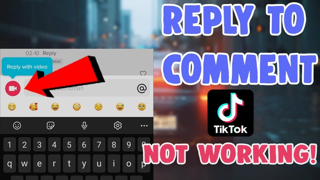 reply to a comment on tiktok with video