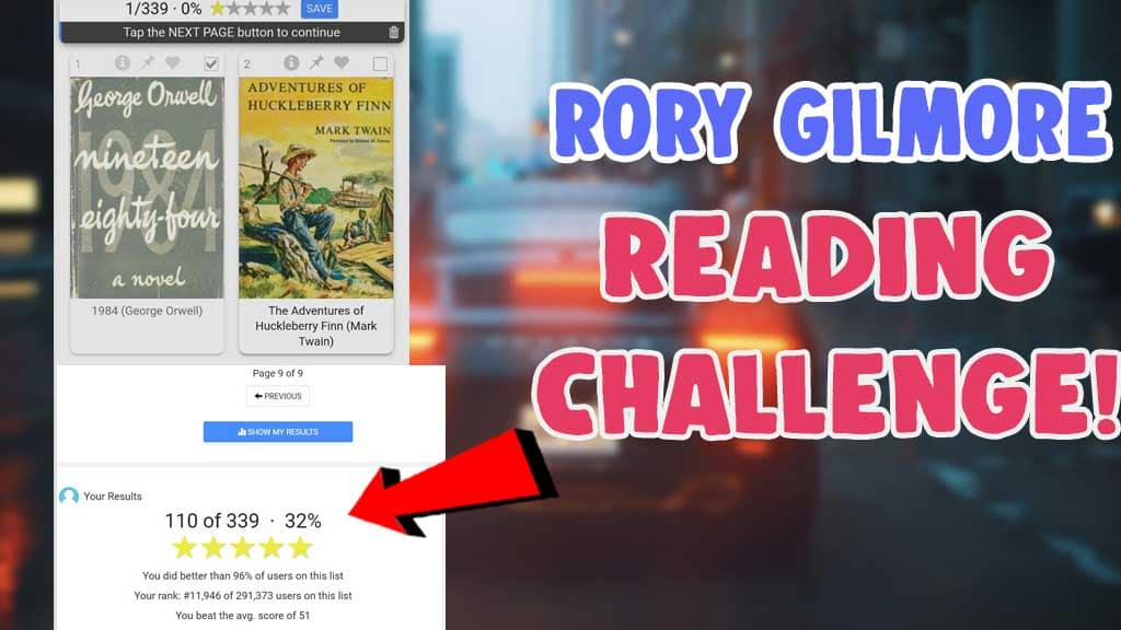 how to do the rory gilmore reading challenge