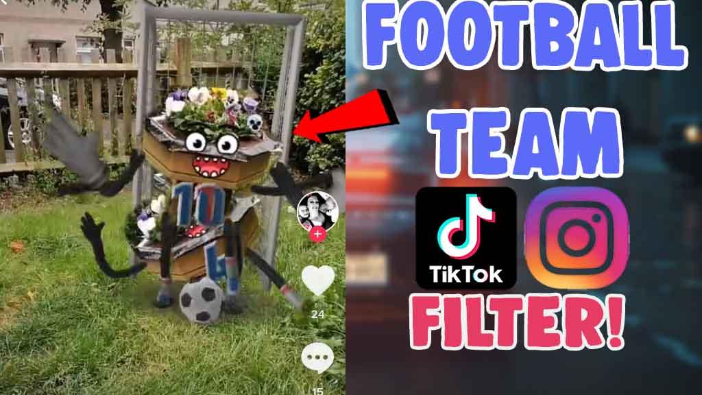 football team filter effect tiktok