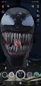 how to get venom filter on snapchat