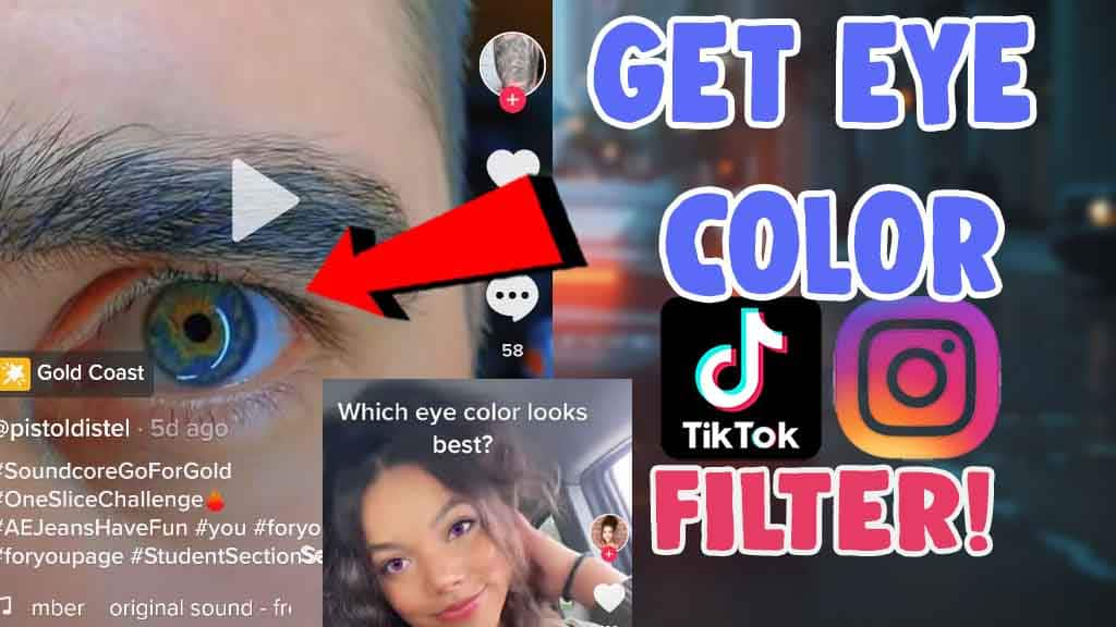 how to get eye color filter on tiktok