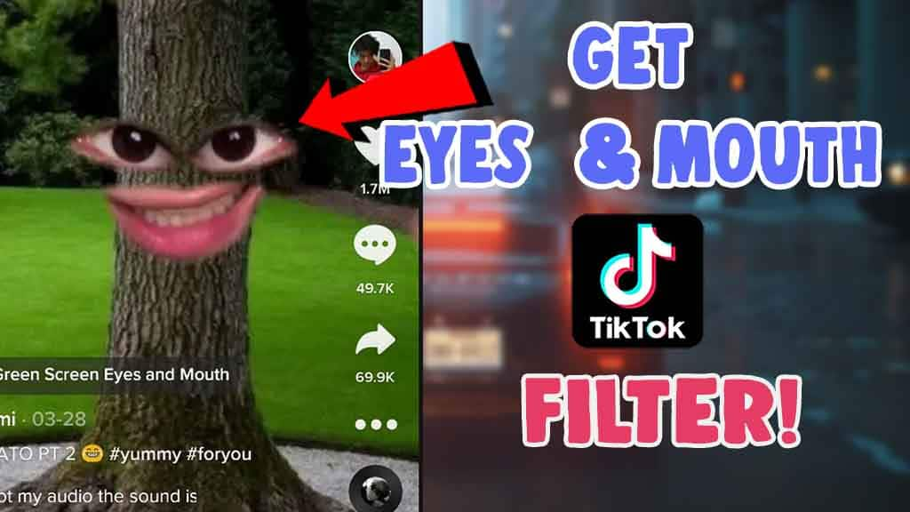 how to get eyes and mouth filter tiktok