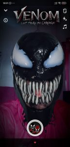 venom let there be carnage snapchat filter